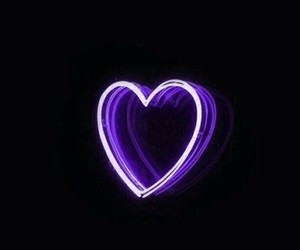 love, glow, and heart image