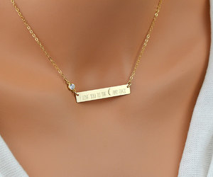 etsy, namenecklace, and bar necklace image