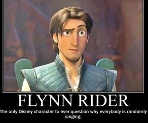 disney, flynn rider, and tangled image