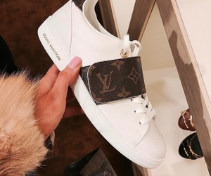 shoes, sneakers, and Louis Vuitton image