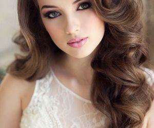 bride, hair, and wavy image
