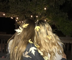 beauty, best friends, and lights image