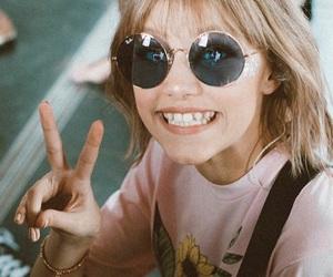 beauty, happy, and sunglasses image