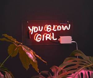 girl, neon, and quotes image
