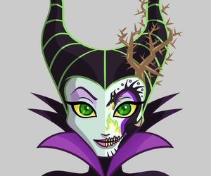 disney, maleficent, and catrina image