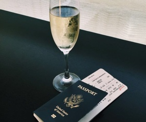 champagne, passport, and travel image