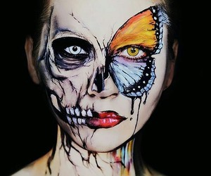 beautiful, butterfly, and horror image