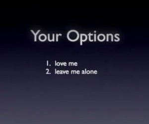 love, options, and text image