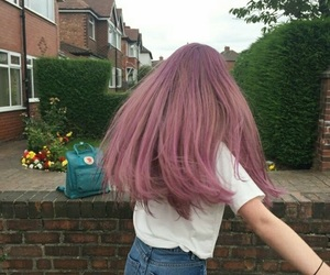 hair, aesthetic, and pink image