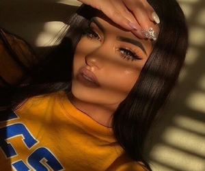beauty, highlighter, and lashes image