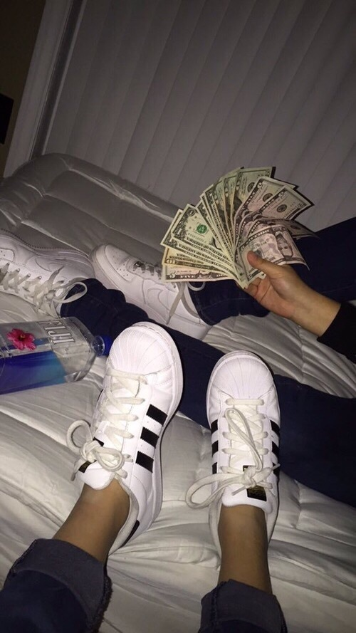 money, adidas, and nike image