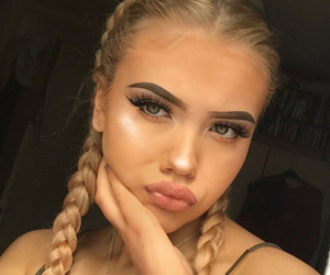 blonde, eye, and abh image