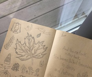 art, art journal, and autumn image