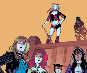 Black Canary, catwoman, and harleen quinzel image