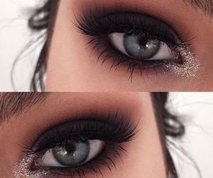 eyes, make up, and makeup image