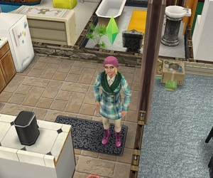autumn, blue and pink, and sims freeplay image