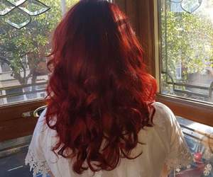 beautiful, hair, and redhair image