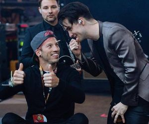 brendon urie, josh dun, and panic! at the disco image
