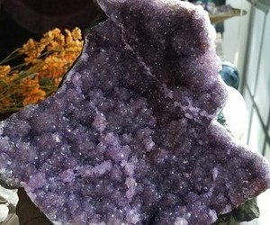amethyst, crystal, and crystals image