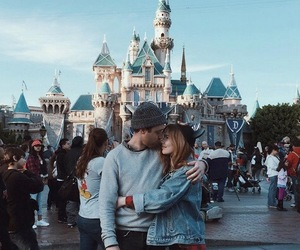 love, couple, and disneyland image