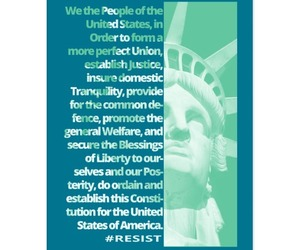 postcards, resist, and we the people image