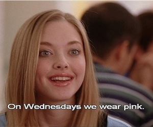 mean girls, pink, and wednesday image