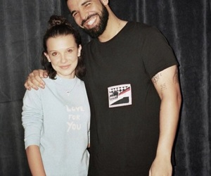 Drake, stranger things, and millie bobby brown image