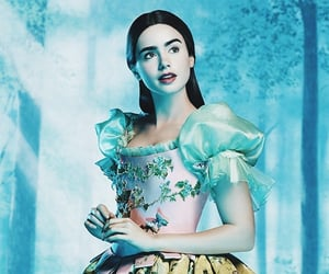 snow white, lily collins, and princess image