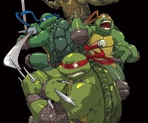 art, ninja turtles, and love image
