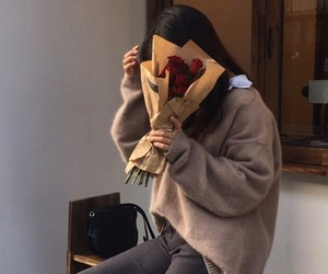 aesthetic, korean, and brown image