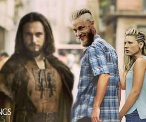 vikings, ragnar lothbrok, and lagertha image