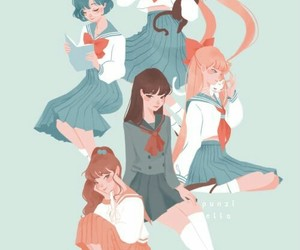 sailor moon, serena, and anime girls image