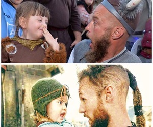 vikings, ragnar lothbrok, and ubbe image