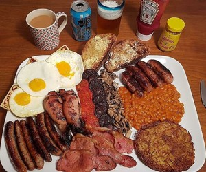 beans, breakfast, and food image