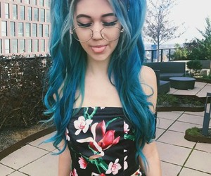 jessie paege, blue hair, and theme image