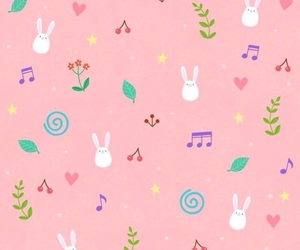 background, bunny, and patterns image