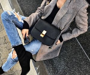 autumn, jeans, and purse image