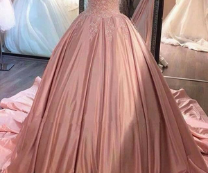 bride, pink, and dress image