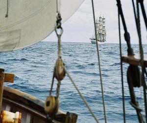 sea, ship, and boat image