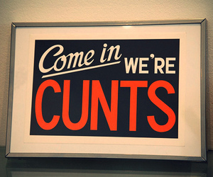 cunt, typography, and invitation image