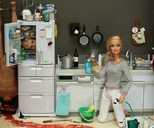 barbie, ken, and blood image
