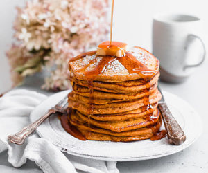food, pancakes, and pumpkin image