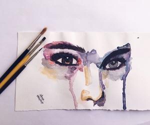aquarela, drawing, and paint image