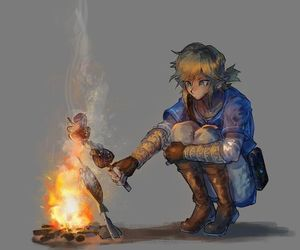 anime, fire, and link image