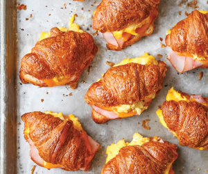 breakfast, croissants, and food image