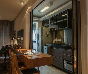apartment, architecture, and kitchen image