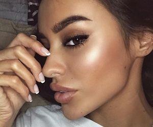 eyeshadow, girl, and face image