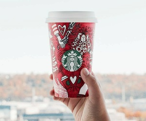 starbucks coffee tumblr, fruits smoothies, and delicious food drinks image