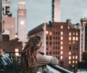 city, hair, and photography image