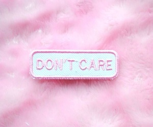 pink, don't care, and aesthetic image